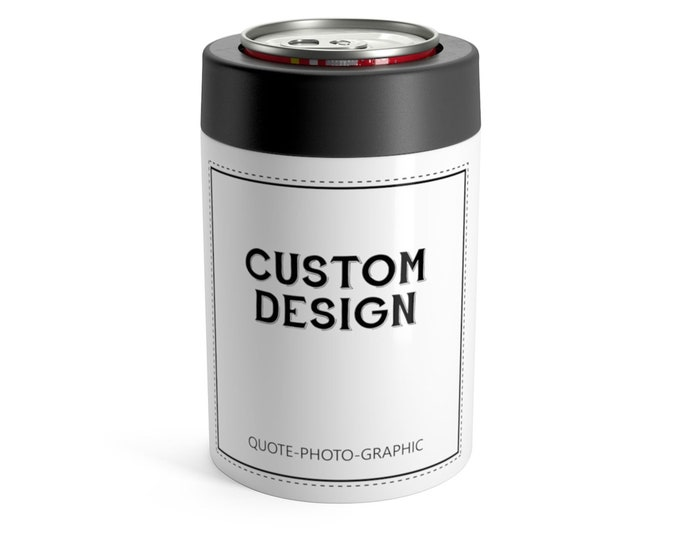Personalized Stainless Can Cooler Custom Engraved Can Stainless Can Huggie Personalized Steel Colster Yeti Colster