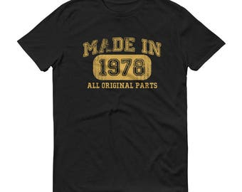 1978 Birthday Gift, Vintage Born in 1978 t-shirt for men, 41st Birthday shirt for him, Made in 1978 T-shirt, 41 Year Old Birthday Shirt