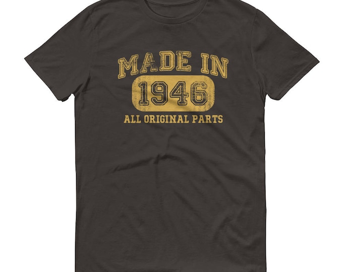 1946 Birthday Gift, Vintage Born in 1946 t-shirt for men, 73rd Birthday shirt for him, Made in 1946 T-shirt, 73 Year Old Birthday Shirt