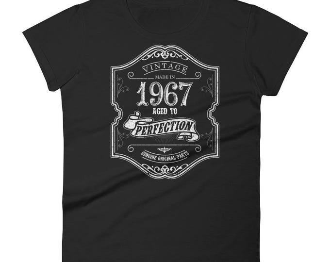 1967 Birthday Gift, Vintage Born in 1967 t-shirt for women, 51st Birthday shirt for her, Made in 1967 T-shirt, 51 Year Old Birthday Shirt