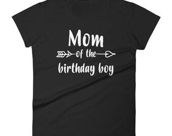 Women's Mom of Birthday Boy t-shirt, mom of birthday boy, birthday boy, birthday shirt, birthday boy mom, birthday boys mom | BelDisegno