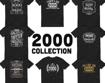 2000 Birthday Gift, Vintage Born in 2000, 20th Birthday shirt, Made in 2000 T-shirt, Birthday Shirt gift for 20 years old - 2000 Collection