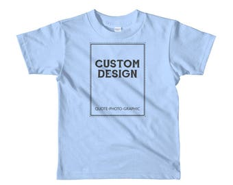 Personalized Short sleeve kids t-shirt  Customize With your photo Logo Graphic custom text quote