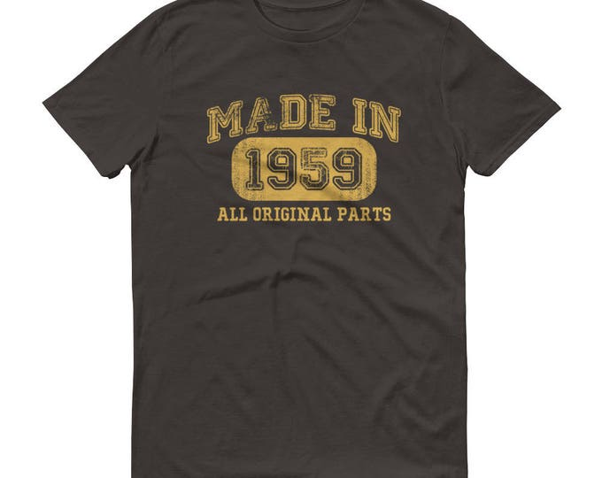 1959 Birthday Gift, Vintage Born in 1959 t-shirt for men, 60th Birthday shirt for him, Made in 1959 T-shirt, 60 Year Old Birthday Shirt