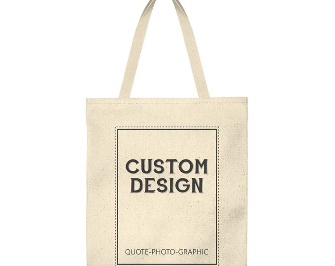Personalized Shoulder Tote Bag  Roomy Custom Tote Custom Shopping bag for women / kids / dog / walkers / book