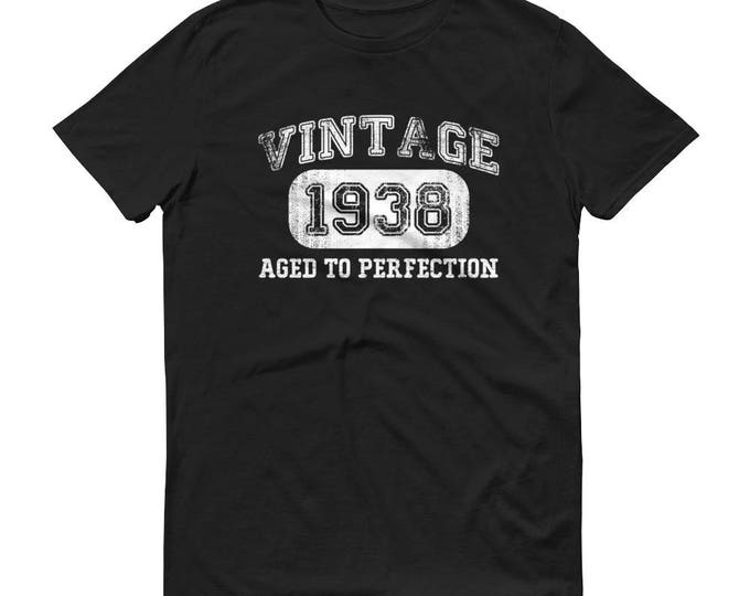 1938 Birthday Gift, Vintage Born in 1938 t-shirt for men, 80th Birthday shirt for him, Made in 1938 T-shirt, 80 Year Old Birthday Shirt