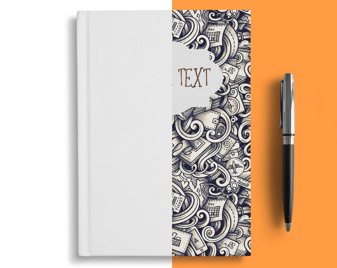 Journal  Ruled Line Notebook - hard cover wedding journal with quote / saying / photo - Ruled recipe book
