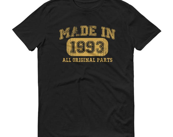 1993 Birthday Gift, Vintage Born in 1993, 26th Birthday shirt for him, Made in 1993 T-shirt, 26 Year Old Birthday Shirt
