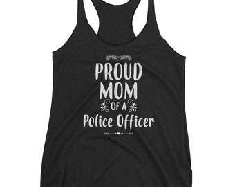 Women's Proud Mom of a Police Officer tank top - Gift for mother of police officer | BelDisegno