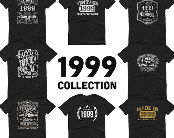 1999 Birthday Gift, Vintage Born in 1999, 20th Birthday shirt for Him, Made in 1999 T-shirt, 20 year old birthday gift 1999 Collection
