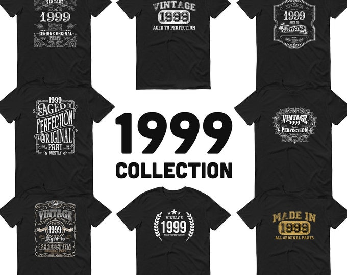 1999 Birthday Gift, Vintage Born in 1999, 20th Birthday shirt for Him Her, Made in 1999 T-shirt, 20 year old birthday gift for Men Women