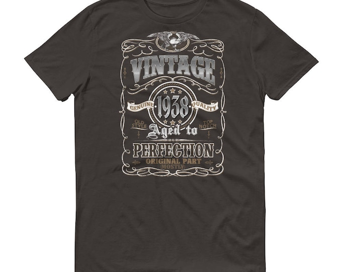 1938 Birthday Gift, Vintage Born in 1938 t-shirt for men, 81st Birthday shirt for him, Made in 1938 T-shirt, 81 Year Old Birthday Shirt