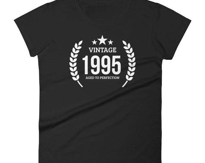 Women's 1995 Birthday Gift, Vintage Born in 1995, 23rd Birthday shirt for her, Made in 1995 T-shirt, 23 Year Old Birthday Shirt | BelDisegno