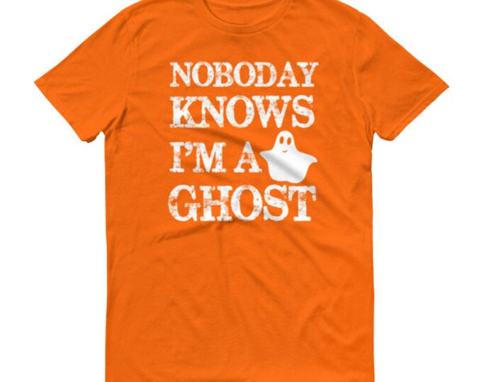 Funny Halloween Shirts Nobody Knows I'm A Ghost