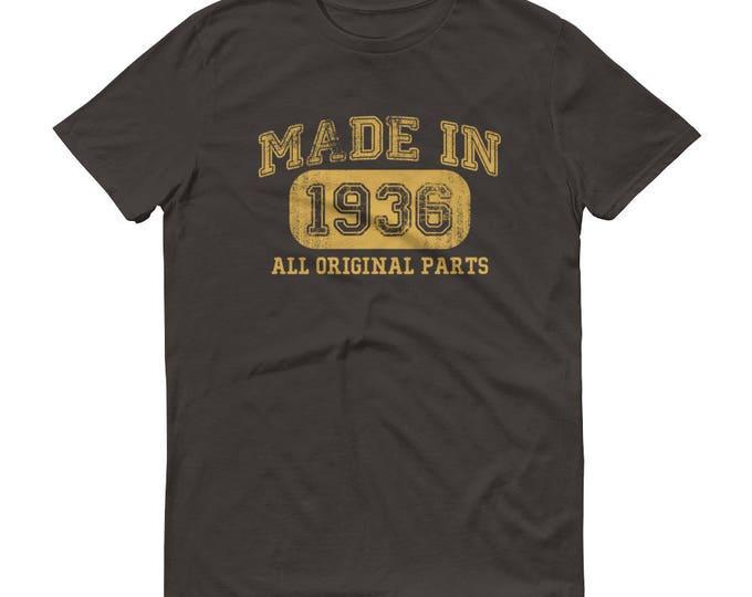 1936 Birthday Gift, Vintage Born in 1936 t-shirt for men, 83rd Birthday shirt for him, Made in 1936 T-shirt, 83 Year Old Birthday Shirt
