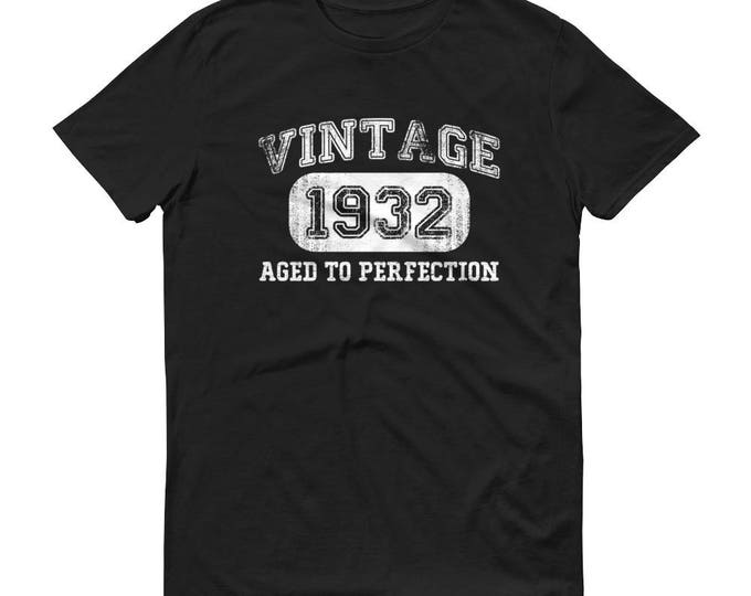 1932 Birthday Gift, Vintage Born in 1932 t-shirt Unisex 87th Birthday shirt for him her, Made in 1932  T-shirt, 87 Year Old Birthday Shirt
