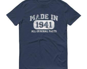 1941 Birthday Gift, Vintage Born in 1941 t-shirt for men, 77th Birthday shirt for him, Made in 1941 T-shirt, 77 Year Old Birthday Shirt