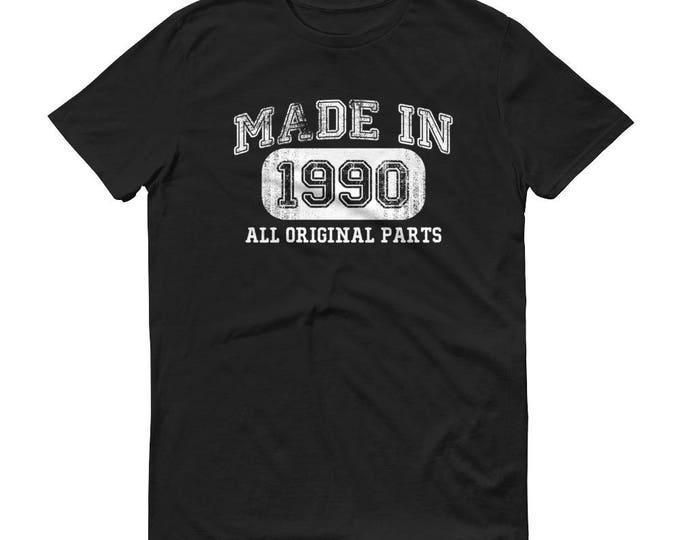 Men's 1990 Birthday Gift, Vintage Born in 1990, 28th Birthday shirt for him, Made in 1990 T-shirt, 28 Year Old Birthday Shirt | BelDisegno