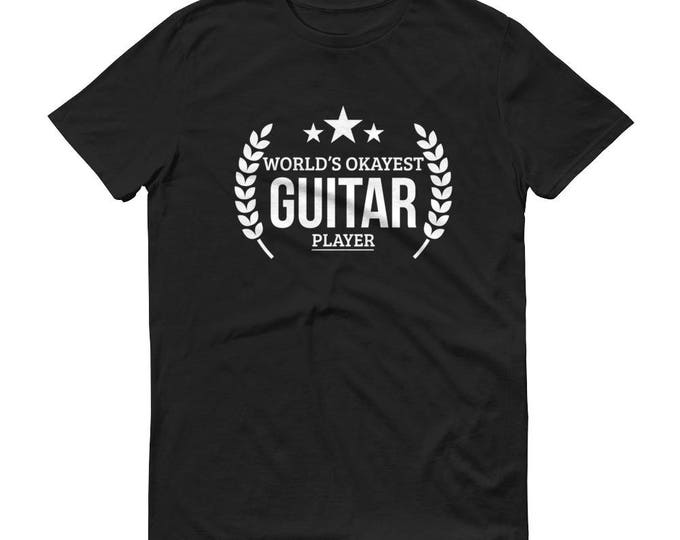 Guitar gifts for men, World's Okayest Guitar player t-shirt - gifts for guitar teachers, guitar player gift, guitar teacher gift