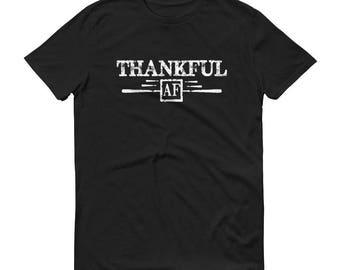 Men's Thankful AF Shirt , thankful shirt, thanksgiving shirt, fall shirt, thanksgiving shirts, grateful thankful | BelDisegno