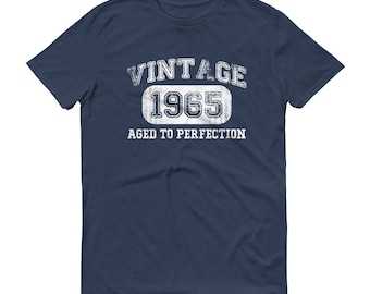 1965 Birthday Gift, Vintage Born in 1965 t-shirt for men, 54th Birthday shirt for him, Made in 1965 T-shirt | Color Lake | Size L