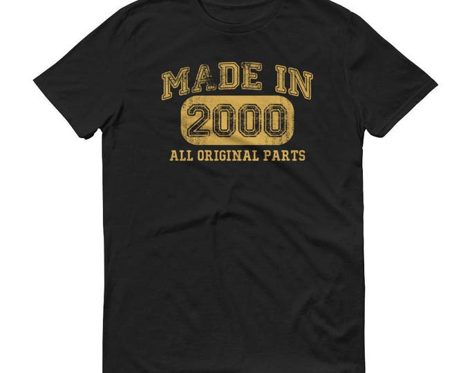 2000 Birthday Gift, Vintage Born in 2000, 19th Birthday shirt for him, Made in 2000 T-shirt, Birthday Shirt gift for 19 years old