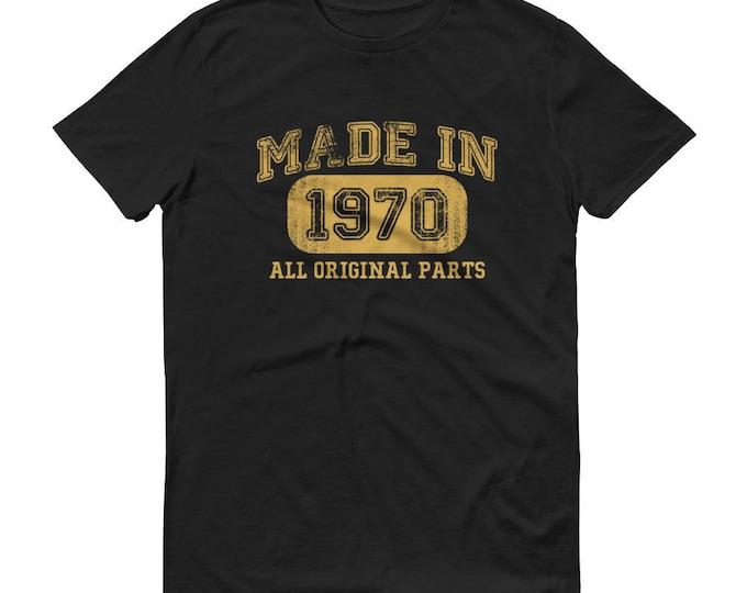 1970 Birthday Gift, Vintage Born in 1970 t-shirt for men, 49th Birthday shirt for him, Made in 1970 T-shirt, 49 Year Old Birthday Shirt