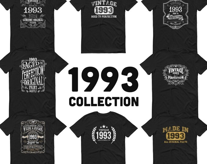 1993 Birthday Gift, Vintage Born in 1993, 27th Birthday shirt for him, Made in 1993 T-shirt, 27 Year Old Birthday Shirt 1993 Collection