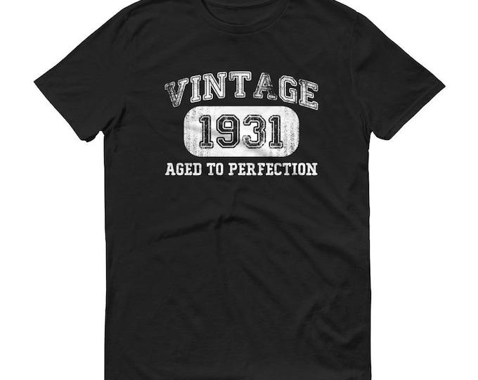1931 Birthday Gift, Vintage Born in 1931 t-shirt for men, 87th Birthday shirt for him, Made in 1931  T-shirt, 87 Year Old Birthday Shirt