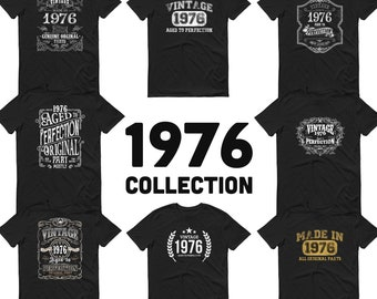 1976 Birthday Gift, Vintage Born in 1976 t-shirt, 45th Birthday shirt, Made in 1976 T-shirt, 45 Year Old Birthday Shirt 1976 Collection
