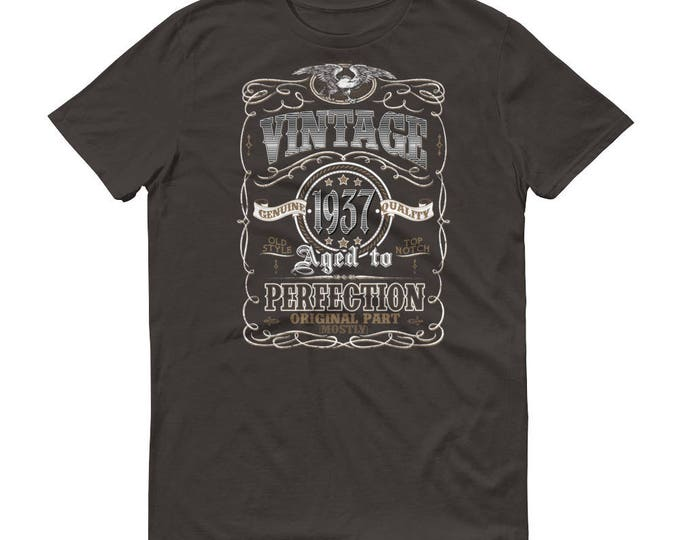 1937 Birthday Gift, Vintage Born in 1937 t-shirt for men, 82nd Birthday shirt for him, Made in 1937 T-shirt, 82 Year Old Birthday Shirt