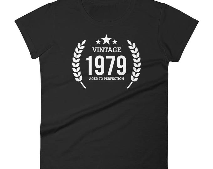 1979 Birthday Gift, Vintage Born in 1979 t-shirt for women, 39th Birthday shirt for her, Made in 1979 T-shirt, 39 Year Old Birthday Shirt