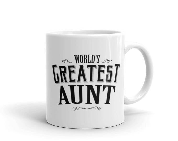 Aunt gift mug World's Greatest Aunt Coffee Mug