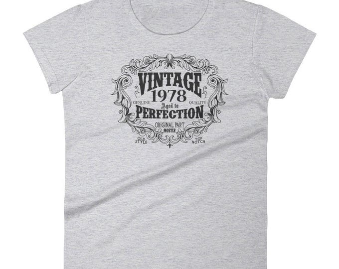 1978 Birthday Gift, Vintage Born in 1978 t-shirt for women, 41st Birthday shirt for her, Made in 1978 T-shirt, 41 Year Old Birthday Shirt