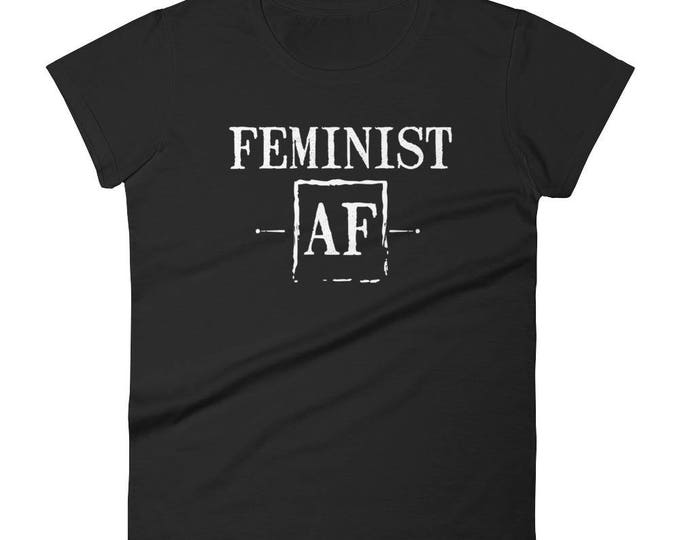 Feminist AF Funny Female Feminism  Rights T-Shirt