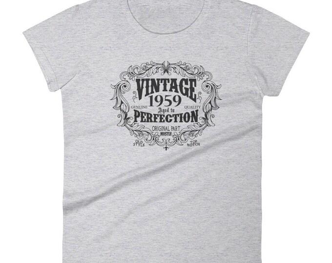 1959 Birthday Gift, Vintage Born in 1959 t-shirt for women, 60th Birthday shirt for her, Made in 1959 T-shirt, 60 Year Old Birthday Shirt