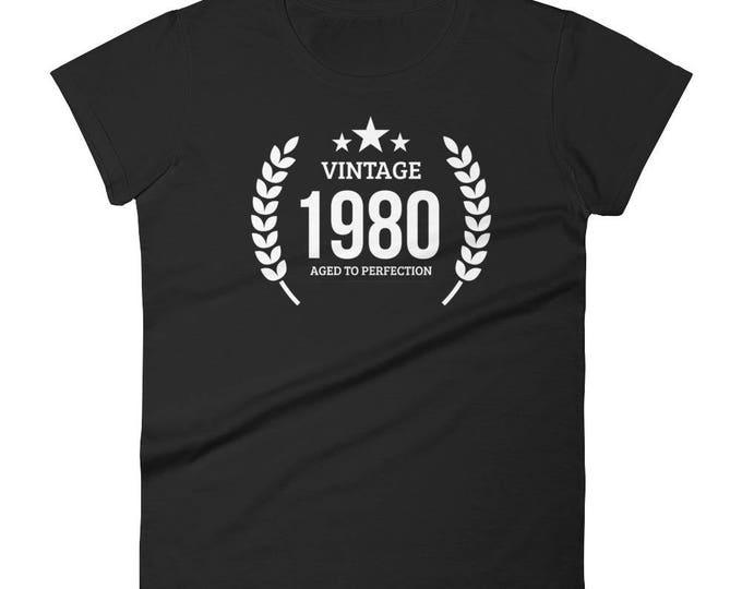 1980 Birthday Gift, Vintage Born in 1980 t-shirt for women, 38th Birthday shirt for her, Made in 1980 T-shirt, 38 Year Old Birthday Shirt