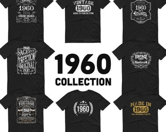 1960 Birthday Gift, Vintage Born in 1960 t-shirt, 60th Birthday shirt, Made in 1960 T-shirt, 60 Year Old Birthday Shirt - 1960 Collection