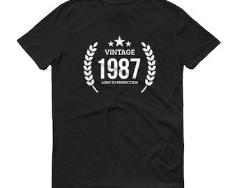 1987 Birthday Gift, Vintage Born in 1987 t-shirt for men, 31st Birthday shirt for him, Made in 1987 T-shirt, 31 Year Old Birthday Shirt