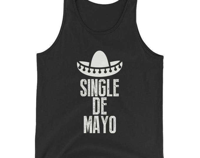 Unisex  Single de Mayo Tank Top, mexico vacation, adios to single life, cinco de mayo shirt, bachelorette party