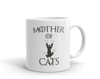 Cat Gift, Mother of Cats Coffee Mug, cat lover gift, cat gift, mother of cats, cat mom, cat mug, mother of cats mug, gift for cat lovers
