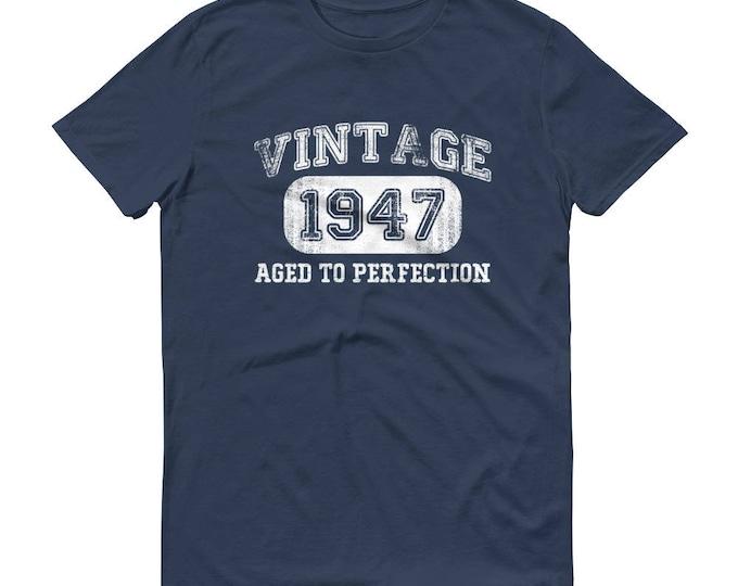 1947 Birthday Gift, Vintage Born in 1947 t-shirt for men, 72nd Birthday shirt for him, Made in 1947 T-shirt, 72 Year Old Birthday Shirt