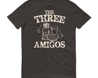 Men's The three amigos t-shirt, Tequila Shirt, funny drinking shirt, tequila shirt, tacos and tequila, funny tequila shirt