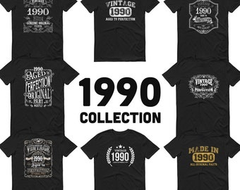 1990 Birthday Gift, Vintage Born in 1990, 29th Birthday shirt for him, Made in 1990 T-shirt, 29 Year Old Birthday Shirt 1990 Collection