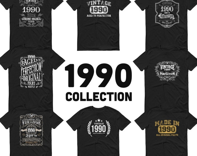 1990 Birthday Gift, Vintage Born in 1990, 30th Birthday shirt for him, Made in 1990 T-shirt, 30 Year Old Birthday Shirt 1990 Collection