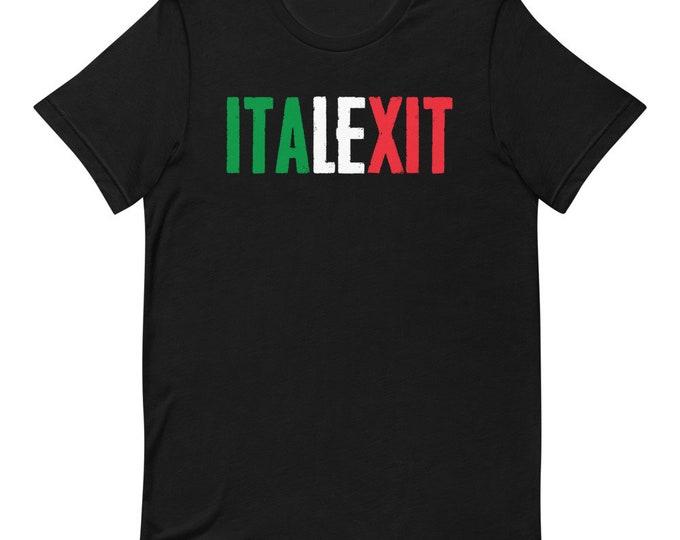 Italexit Italy Italia Flag T-Shirt Maglietta unisex manica corta #italexit #uscITA