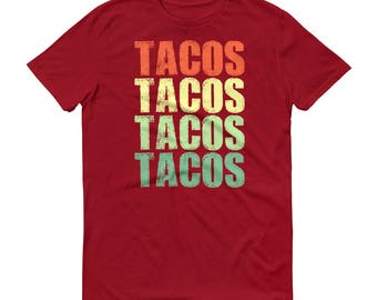 Tacos Tacos Tacos Tacos t-shirt for men, taco Tuesday, Taco Party, Funny tacos shirt for him, love tacos | BelDisegno
