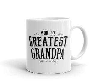 Personalized Gift for Grandpa,  World's Greatest Grandpa Coffee Mug, Birthday Christmas gift for Grandpa, Grandfather gift