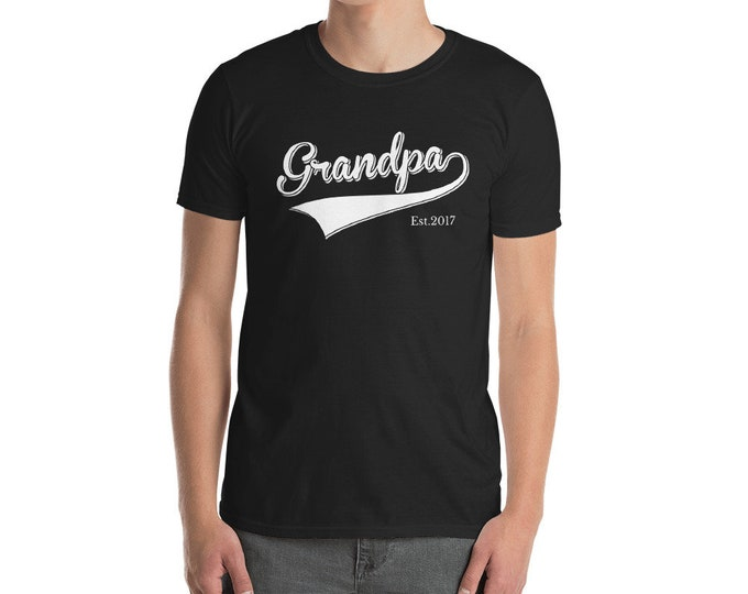 Grandpa Shirt father's day Gift | Grandpa est 2017 Short-Sleeve Unisex T-Shirt for grandpa | BelDisegno