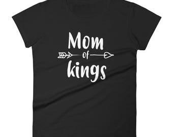 Women's mom of kings t-shirt - mom of boys gift, mother of boys, mom of boys, mom shirt, funny mom shirt, mom gift
